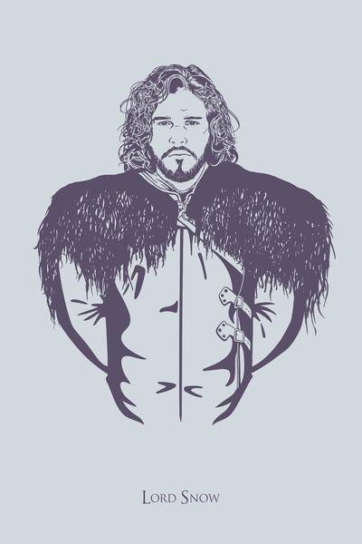 Jon Snow, Lord Snow — Game of Thrones  Art Print