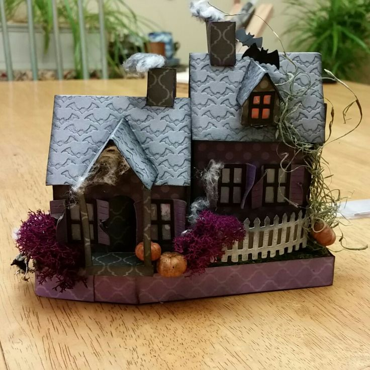 Halloween house, class at Buffalo Stamp and Stuff