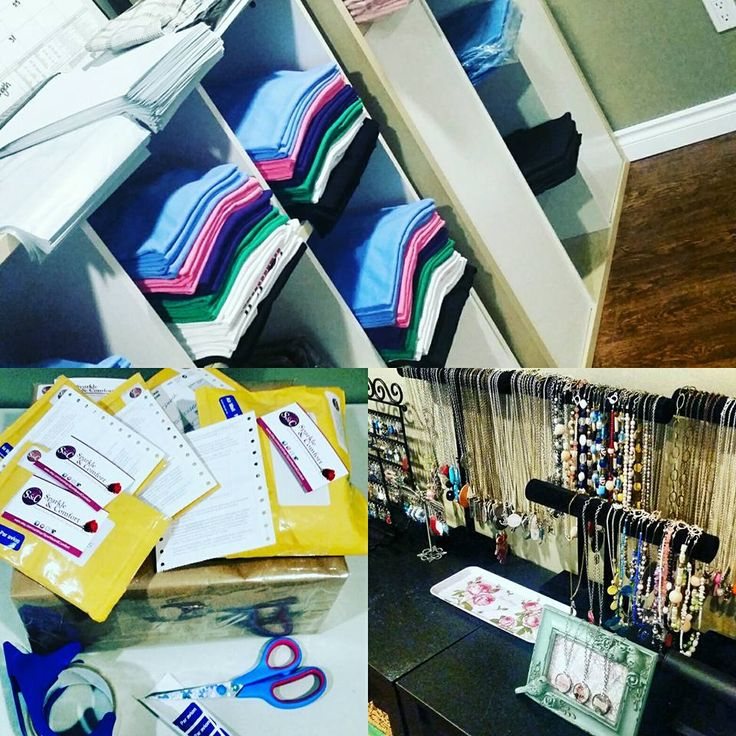 A few photos of our workshop! We've created areas for our handmade jewelry, apparel, knits, heat pressing, vinyl design and weeding and mailing items out!