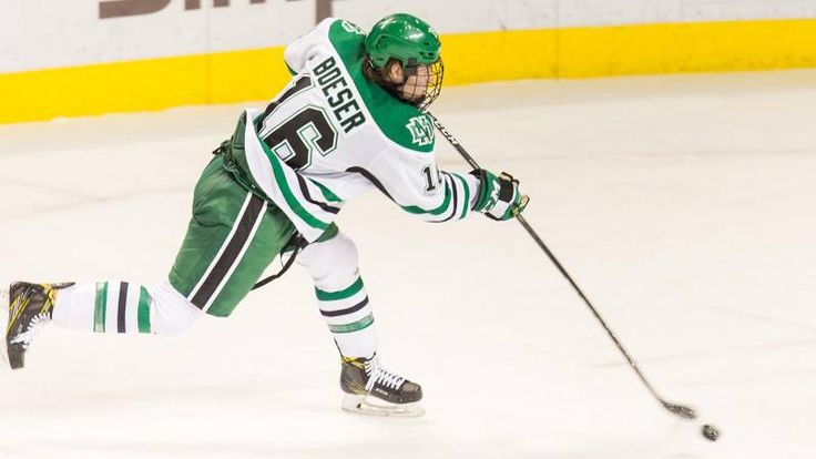 GRAND FORKS, N.D. – University of North Dakota sophomore forward Brock Boeser has been named National Collegiate Hockey Conference (NCHC) Offensive Player of the Week for his performance in UND's non-conference sweep of Canisius last weekend in Grand Forks.