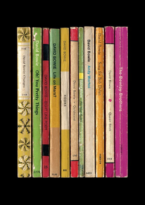 David Bowie 'Hunky Dory' Album As Penguin Books Poster Literary Music Print