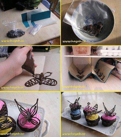 papillons en chocolat
