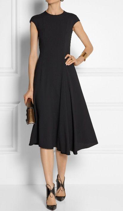 dress. {red heels} or cognac flat sandals