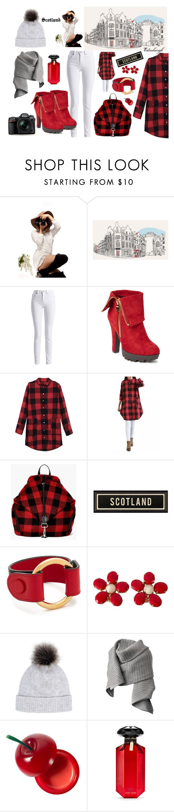 """#outfitsfortravel #fashion #winter #travel #Scotland #Europe #traveloutfits"" by edin-levic ❤ liked on Polyvore featuring Barbour International, Wild Diva, Boohoo, Marni, Schreiner, Helen Moore, Acne Studios, TONYMOLY, Victoria's Secret and Nikon"