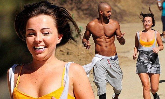 Ricky Whittle puts soap star pal Louisa Lytton through her paces