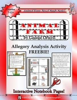 Animal Farm by George Orwell Interactive Notebook Activity for English Language Arts, Novel Studies and Literature lessons | by James Whitaker