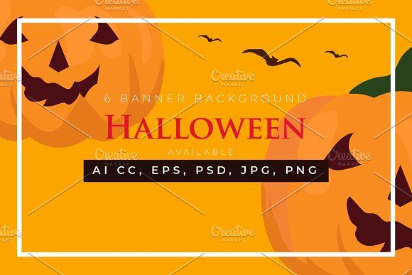 6 Halloween Banner Collection By Bungamustia Halloween Banner Graphic Illustration Banner