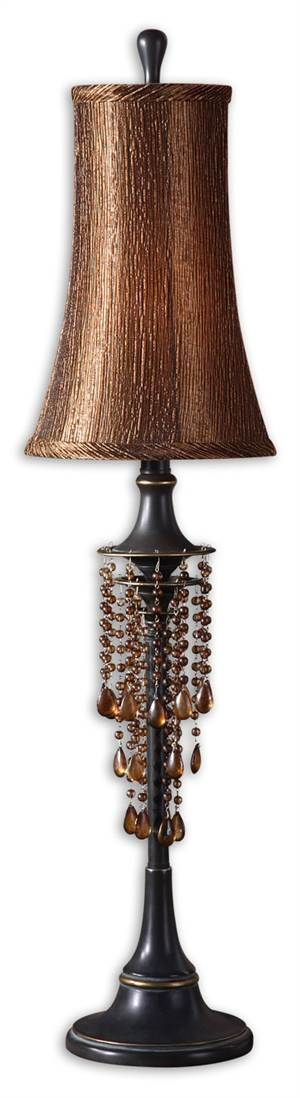 Shop For The Uttermost 29272 Distressed Bronze Single Light Down Lighting  Ornamented Post Table Lamp From The Ellenton Collection And Save.