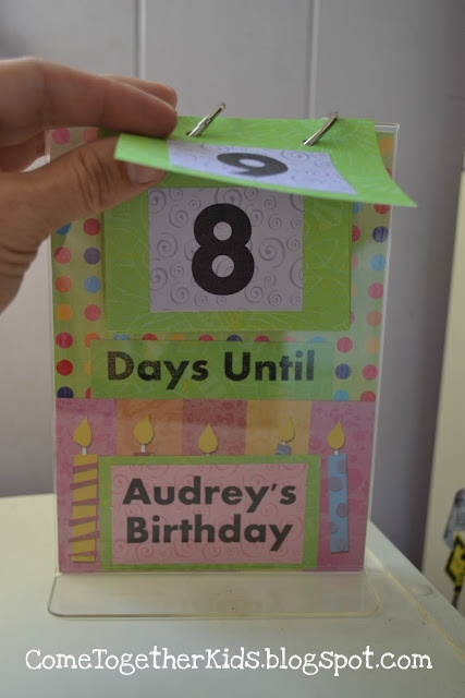 """Birthday Countdown Stand - I need one of these for every major holiday so I don't have to answer the """"how many days until"""" question 75 times a day!"""