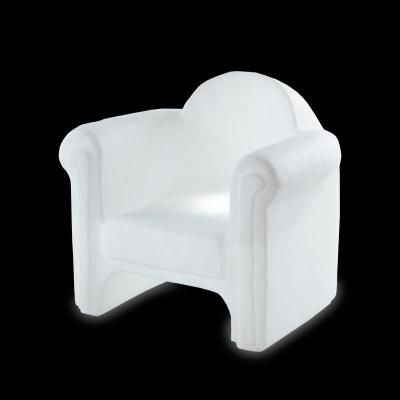 Fotoliu luminos din plastic pentru interior