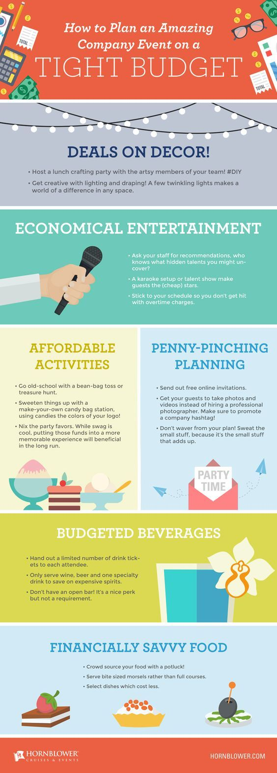 Pro tips to stay within budget for your next company event.