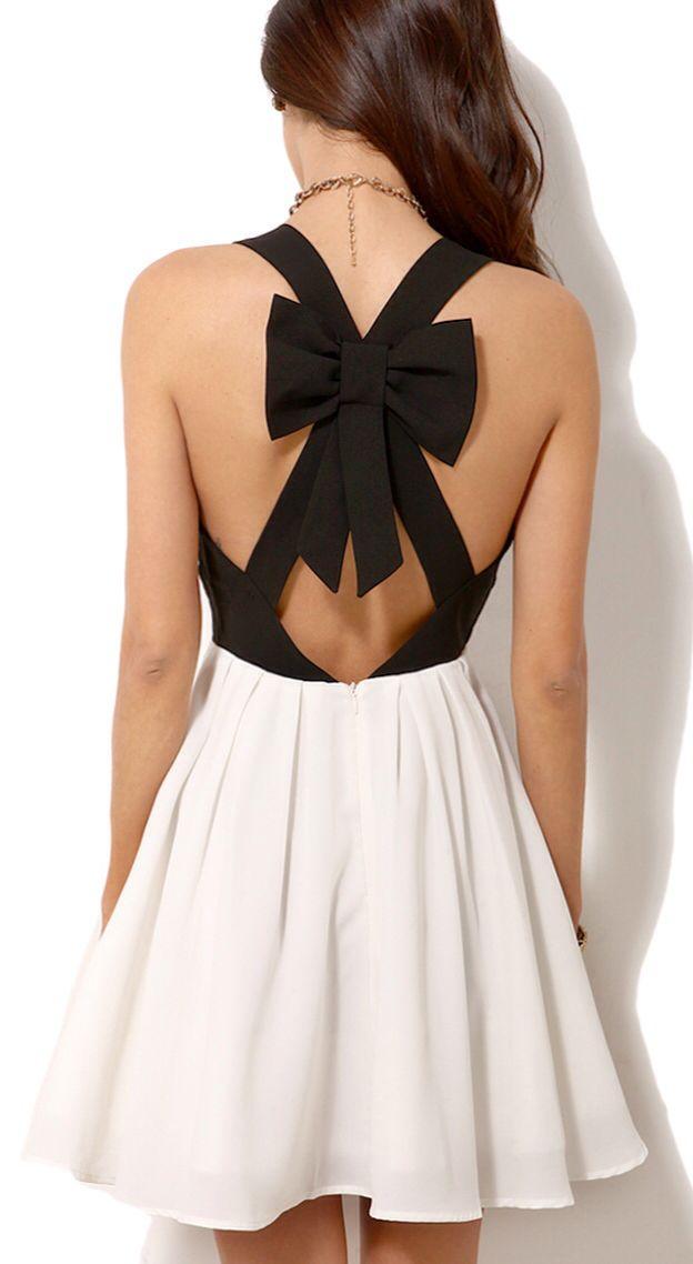 Bow back dress // love.