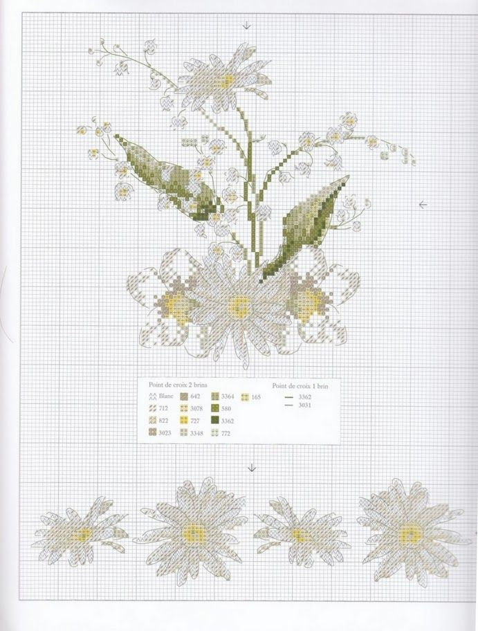 Cross stitch pattern. Flower.