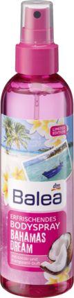 Balea Bahamas Dream Bodyspray mit dem sinnlich-blumigen Duft von Cocos und Frangipani entführt Ihre Sinne an einen traumhaften Kokospalmenstrand. Genießen...