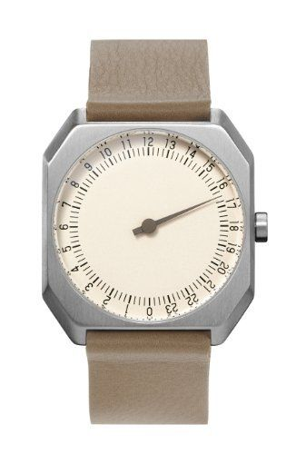 slow Jo 10 - Beige Leather, Silver Case, Cream Dial - Swiss Made