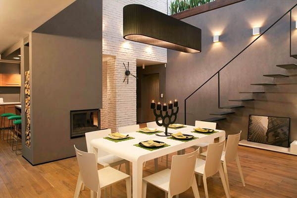 Loft in Bansko by Fimera Design Studio 1 Natural Color Palette Shaping Spacious Sophisticated Loft