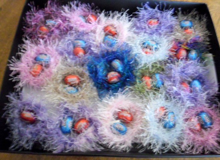 Not jewellery but have been fun to make for Easter. Little crocheted birds nests with Easter Eggs