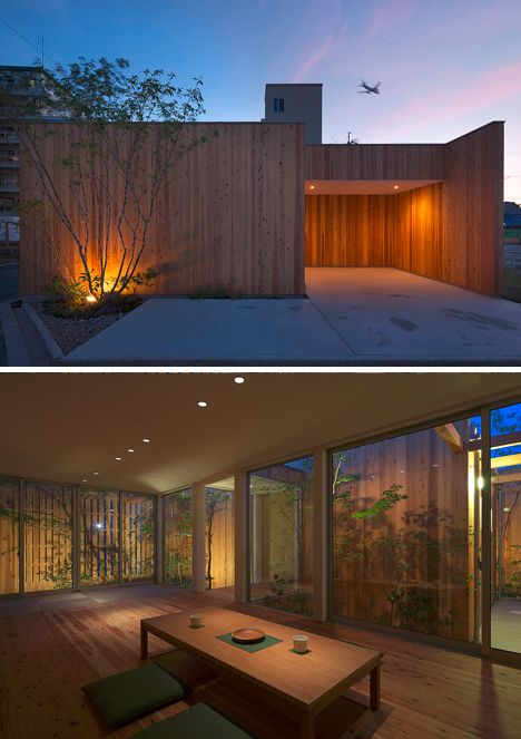 private minimal house night