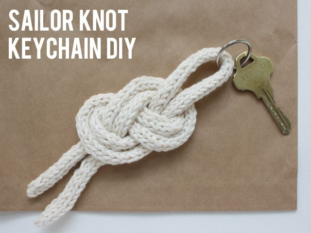 sailor knot keychain.