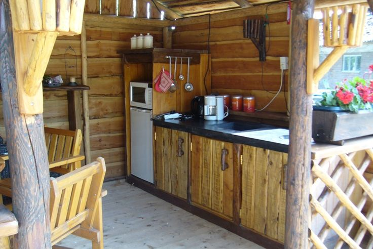 Solidus buitenkeuken beton en oud douglas hout