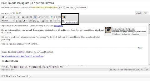InstaPress Plugin for WordPress