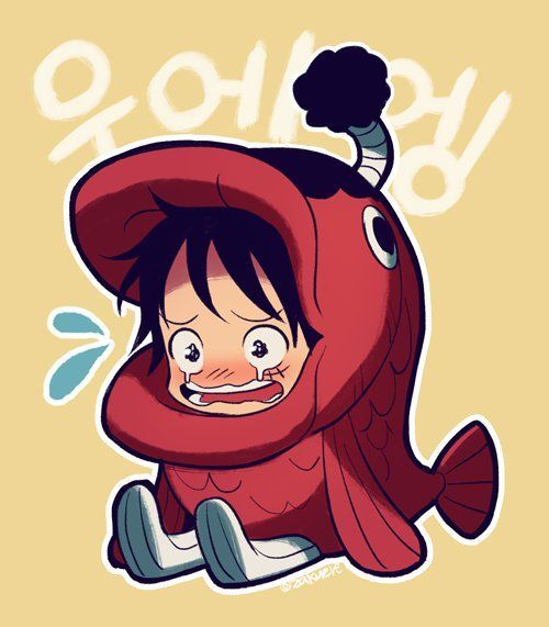 Oh luffy, the fish didn't eat you.  Don't cry.