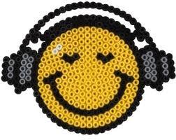 Smiley - Bügelperlen