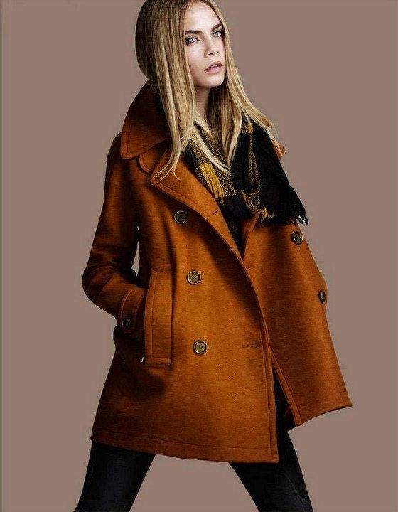 Brown Wool Coat Women