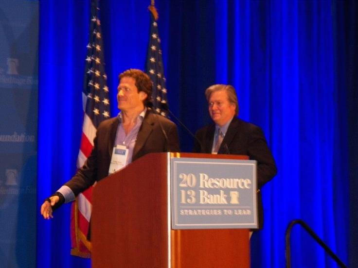 Breitbart.com's Larry Solov and Steve Bannon #BreitbartAward