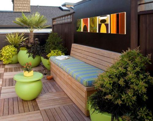 Gartenbank selber bauen - erstaunliche Vorschläge für den Außenbereich
