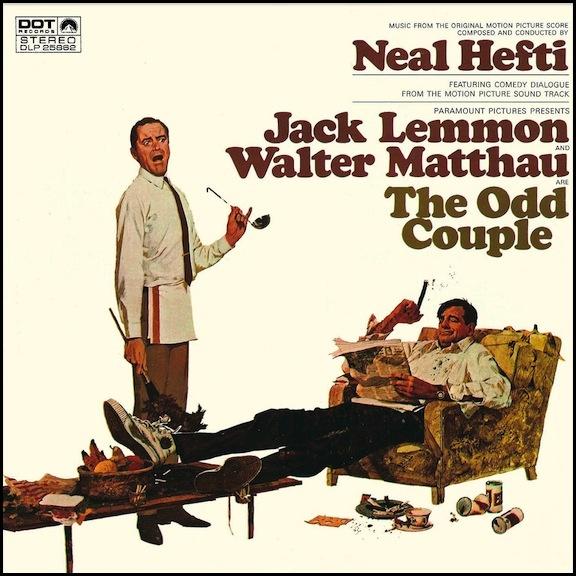Jack Lemmon and Walter Matthau in The Odd Couple (1968
