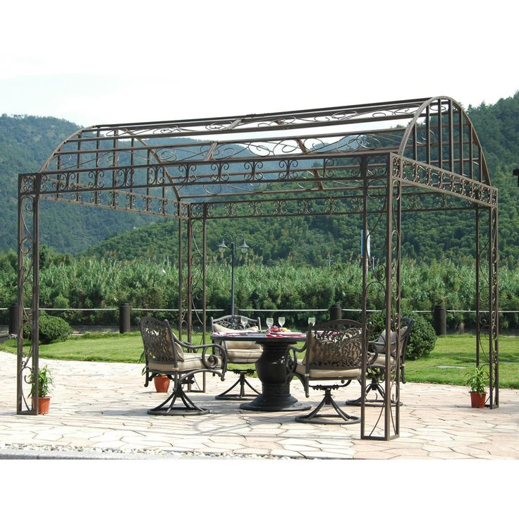 17 best ideas about metal frame gazebo on pinterest diy for Metal frame pergola designs