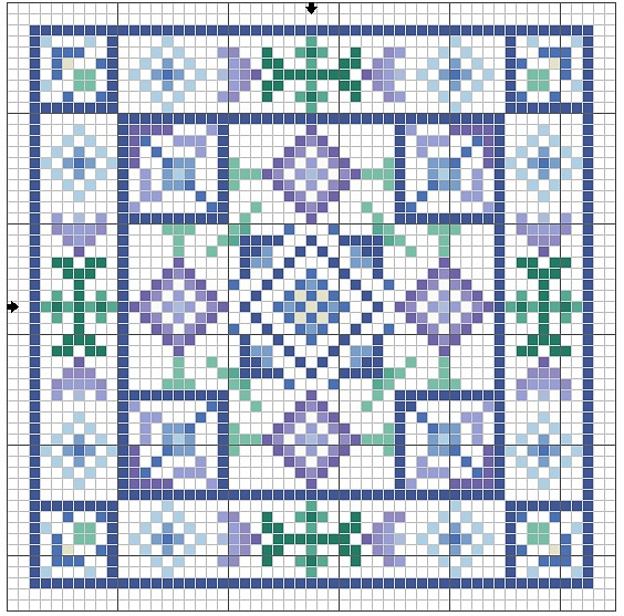 Cross-stitch Biscornu ... no color chart available, just use pattern chart as your color guide.. or choose your own colors...     Gallery.ru / Фото #128 - Кривулечки - Yra3raza. Biscornu.