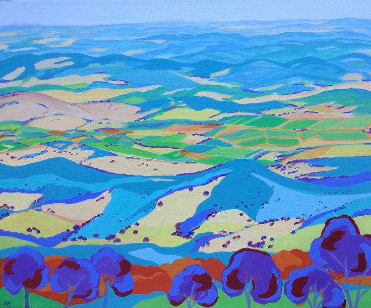 The View From Mt. St. Leonard. Acrylic on canvas by Robyn Henchel, 2015.