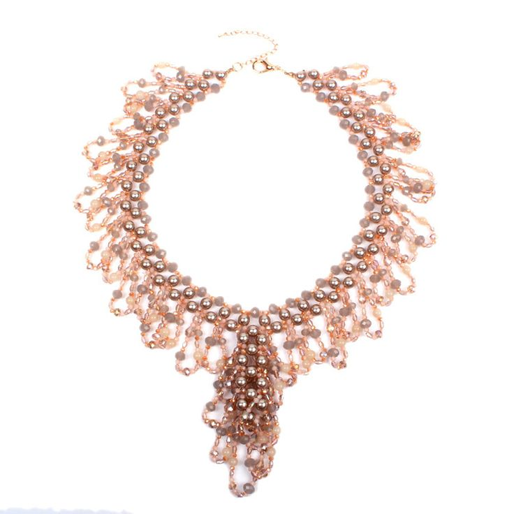 "Find More Choker Necklaces Information about 13"" length handmade hight quality champagne cluster crystal simulated pearls chunky bridal statement necklace jewelry XL025,High Quality jewelry color,China necklace jewelry gift box Suppliers, Cheap necklace jewelry set from nice JOJO :) on Aliexpress.com"