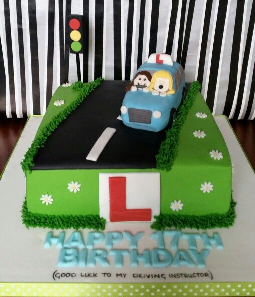 Learner driver 17th birthday cake