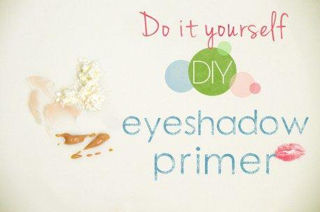 DIY eyeshadow primer just from chapstick, cornstarch and liquid foundation!
