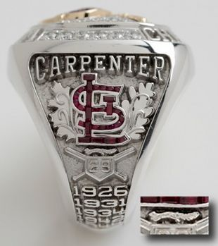 (St. Louis Cardinals) Rally Squirrel on World Series Ring