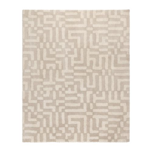 IKEA FAKSE Rug, high pile Off-white 200x250 cm The dense, thick pile dampens sound and provides a soft surface to walk on.