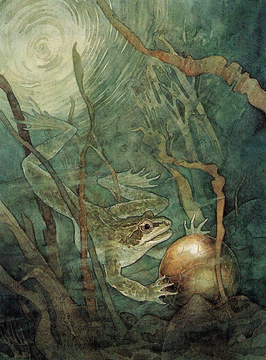 The Frog Prince illustration by P.J. Lynch...