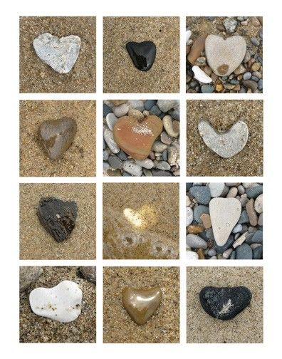 What's not to love? Heart-shaped rocks on a Lake Michigan beach!