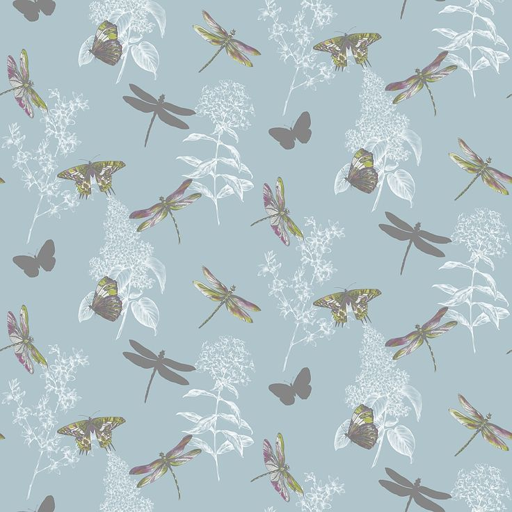 Enchanted Wings  Teal wallpaper by Arthouse