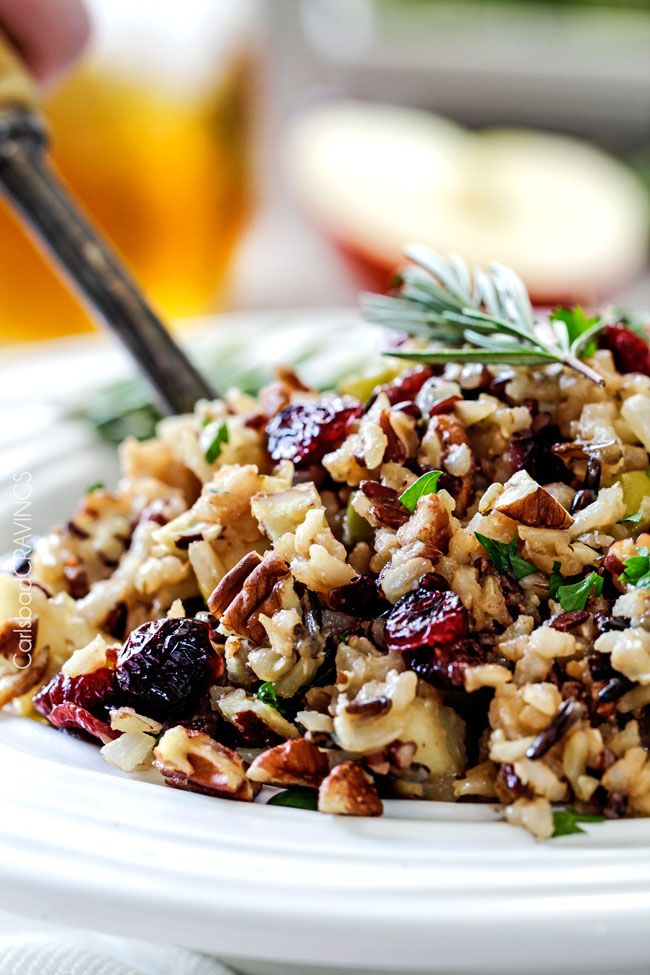 Apple Cranberry Wild Rice Pilaf featured on the Top 50 Apple Recipes