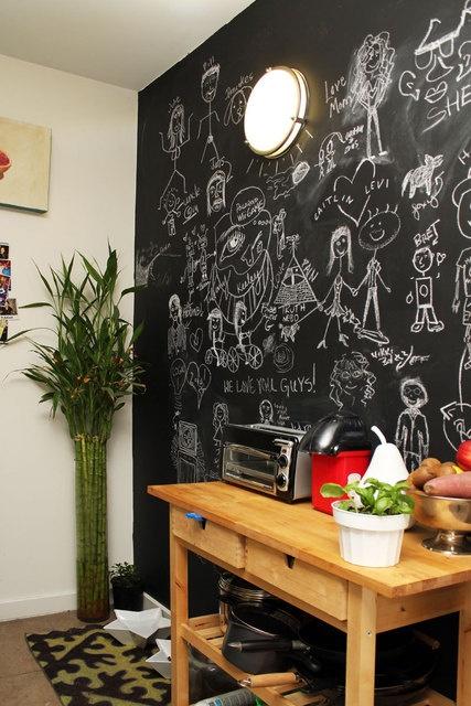 more chalkboard walls.
