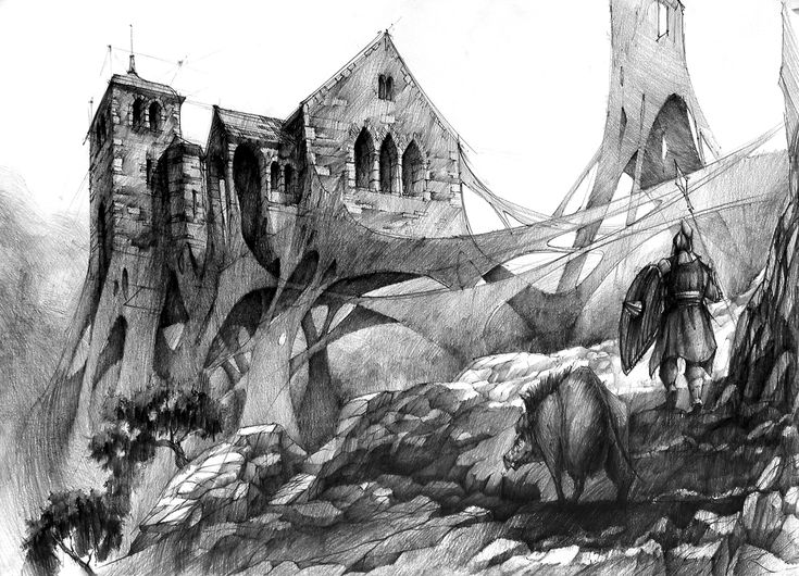 Fantasy World - drawing from DOMIN Poznan drawing school / rysunek z zajęć w szkole rysunku DOMIN Poznań https://www.facebook.com/domin.poznan