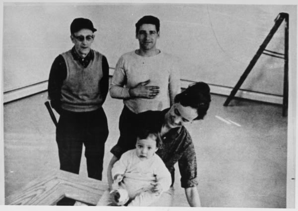 "Albert Desalvo (Boston Strangler-Top Right) and Sebastian Junger (Baby), who will be future author on book about the Boston Strangler (and ""A Perfect Storm"")"