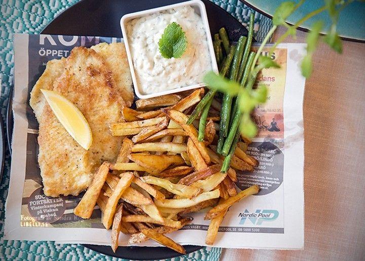 Hemmagjord fish and chips   Sandra Rogers
