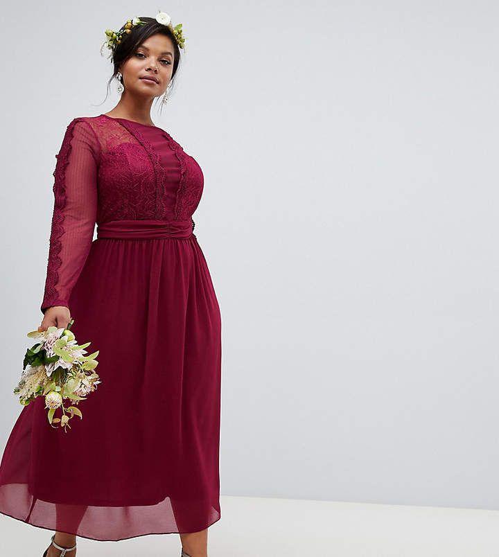 50++ Burgundy chiffon midi dress trends