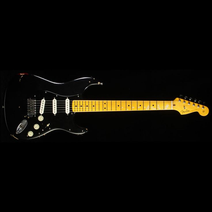 Fender Custom Shop David Gilmour Stratocaster Relic Electric Guitar Black