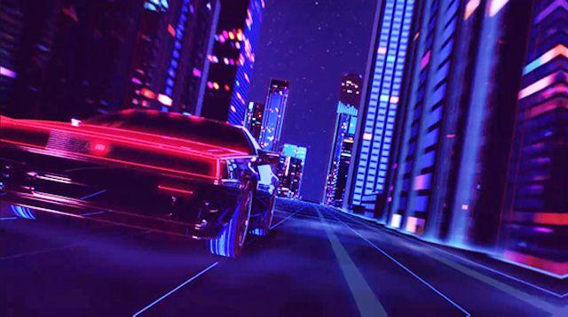 80s Style Retrowave Animation-00